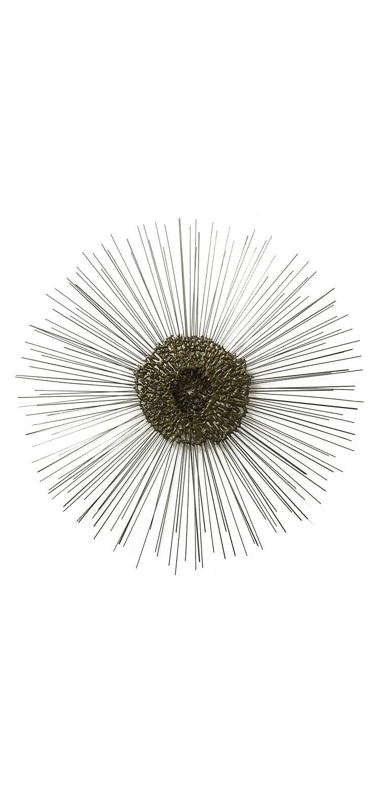 American Sunburst Wall Sculpture by Bruce & William Friedle  For Sale