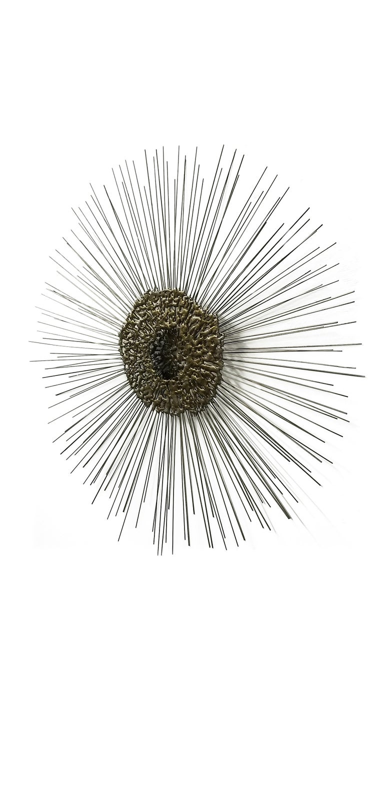 Sunburst Wall Sculpture by Bruce & William Friedle  In Good Condition For Sale In Middlesex, NJ