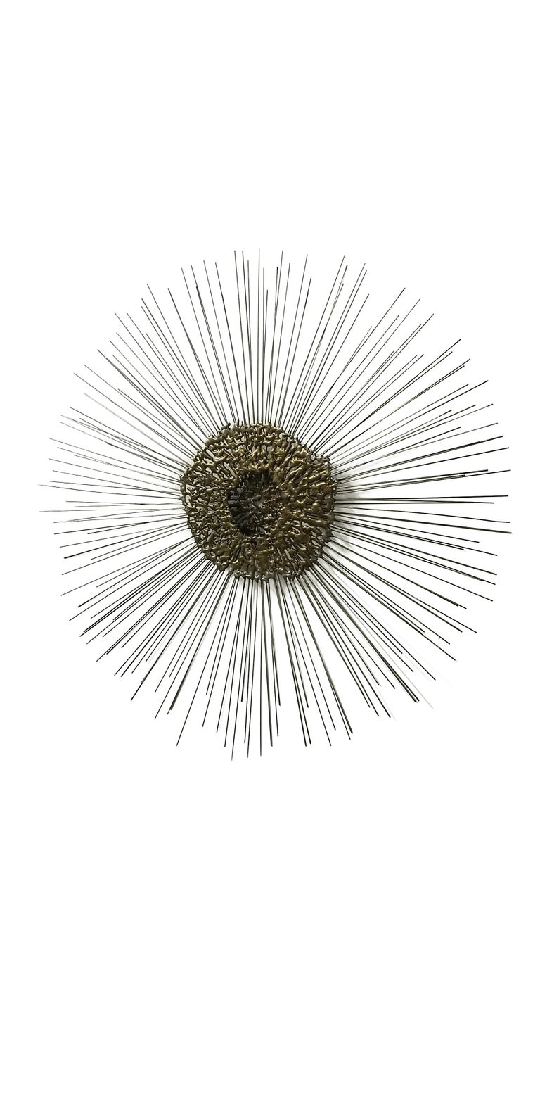 Metal Sunburst Wall Sculpture by Bruce & William Friedle  For Sale
