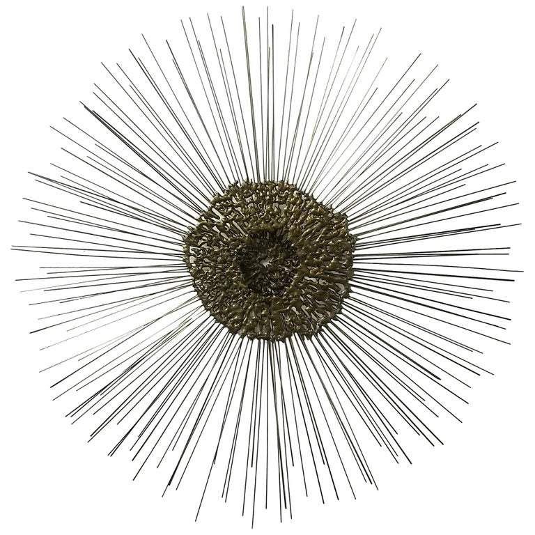 Sunburst Wall Sculpture by Bruce & William Friedle  For Sale