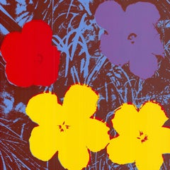 Flowers (after Andy Warhol  Red, Yellow, Purple Hues - Pop Art)