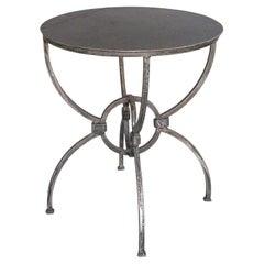 Sundial Table in Reclaimed Steel