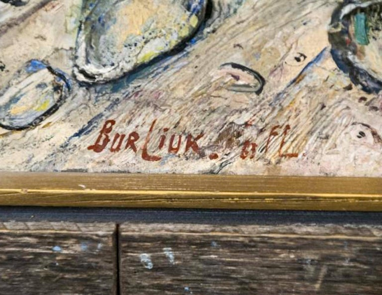 Signed and dated lower right and on back. Oil on panel.  An initiator of the Russian Futurist movement, David Burliuk (1882-1967) was a poet and an artist. Steeped in Russian Modernism, the Futurists David Burliuk, Futurist, circa 1910s were