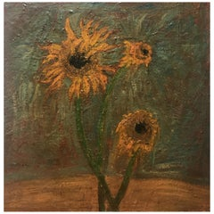 Sunflowers Oil Painting by Barbara Dodge