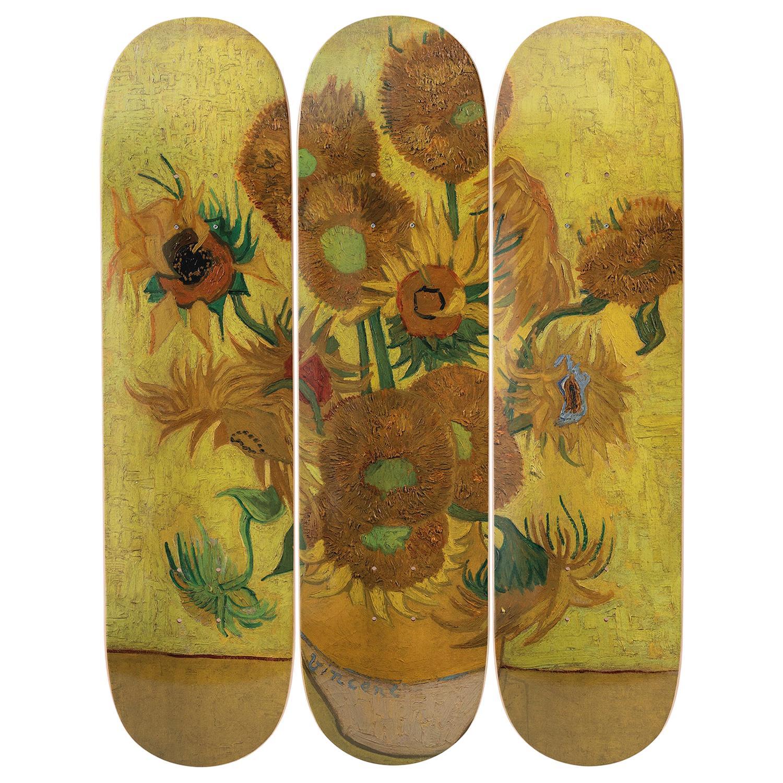 Sunflowers Skateboard Decks after Vincent van Gogh