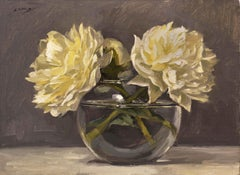 Study of White Peonies (framed)