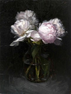White Peonies Study (framed)