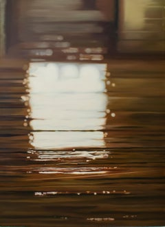 Window, Contemporary Realist Painting, Oil, Reflection, Interiors, Architecture