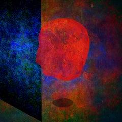 Beyond #01 [Blue, Green, Orange, Red, 3D, Lenticular, New media, Head, Mind]