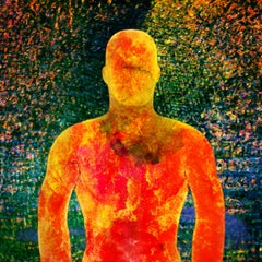 Beyond #02 [Blue, Green, Orange, Yellow, 3D, Lenticular, New media, Upper body]