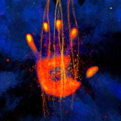 Beyond #06 [Blue, Orange, Red, 3D, Lenticular, New media, Hand]