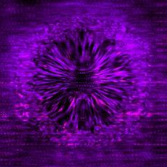 Noise #09 [Black, Purple, 3D, Lenticular, New media, Circle, Galaxy, Space]