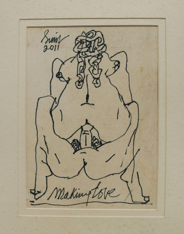 An Erotic Rendition Of Making Love By The Modern Master Padmashree Sunil Das Painting