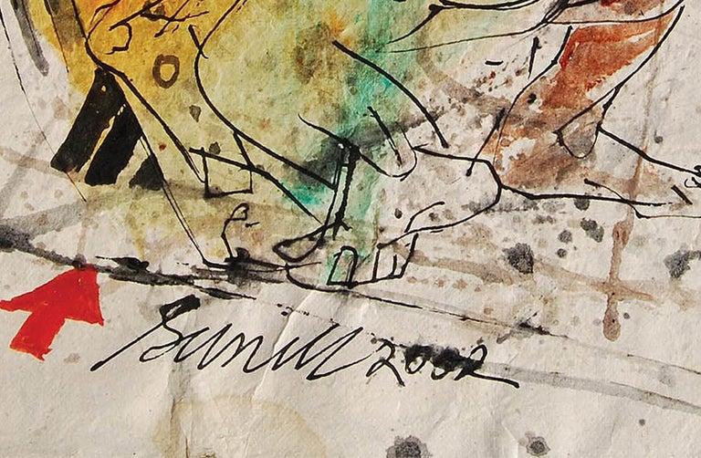 Colour based Drawings II, Acrylic, Watercolor, Pen, Ink, Yellow, Green