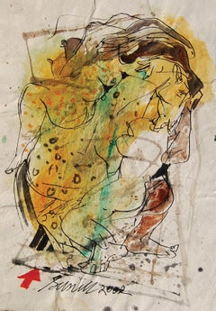 "Colour based Drawings II, Acrylic, Watercolor, Pen, Ink, Yellow, Green""In Stock"""