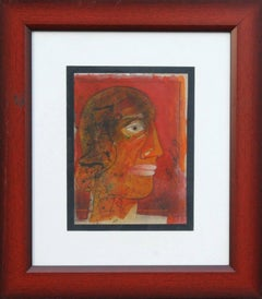 Head series of 80's and 90's in Mixed Media by Indian Modern Artist Sunil Das