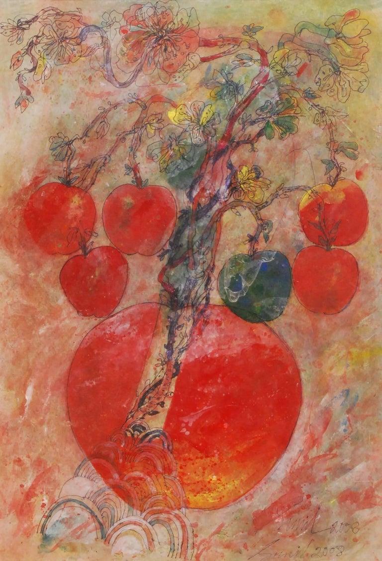 Sunil Das Figurative Painting - Mother & Child