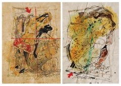 "Set of Erotic Series, Acrylic, Watercolor, Pen, Ink, Paper, Sunil Das ""In Stock"""