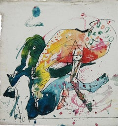 "Women & Horse, Mixed Media by Indian Artist Sunil Das ""In Stock"""