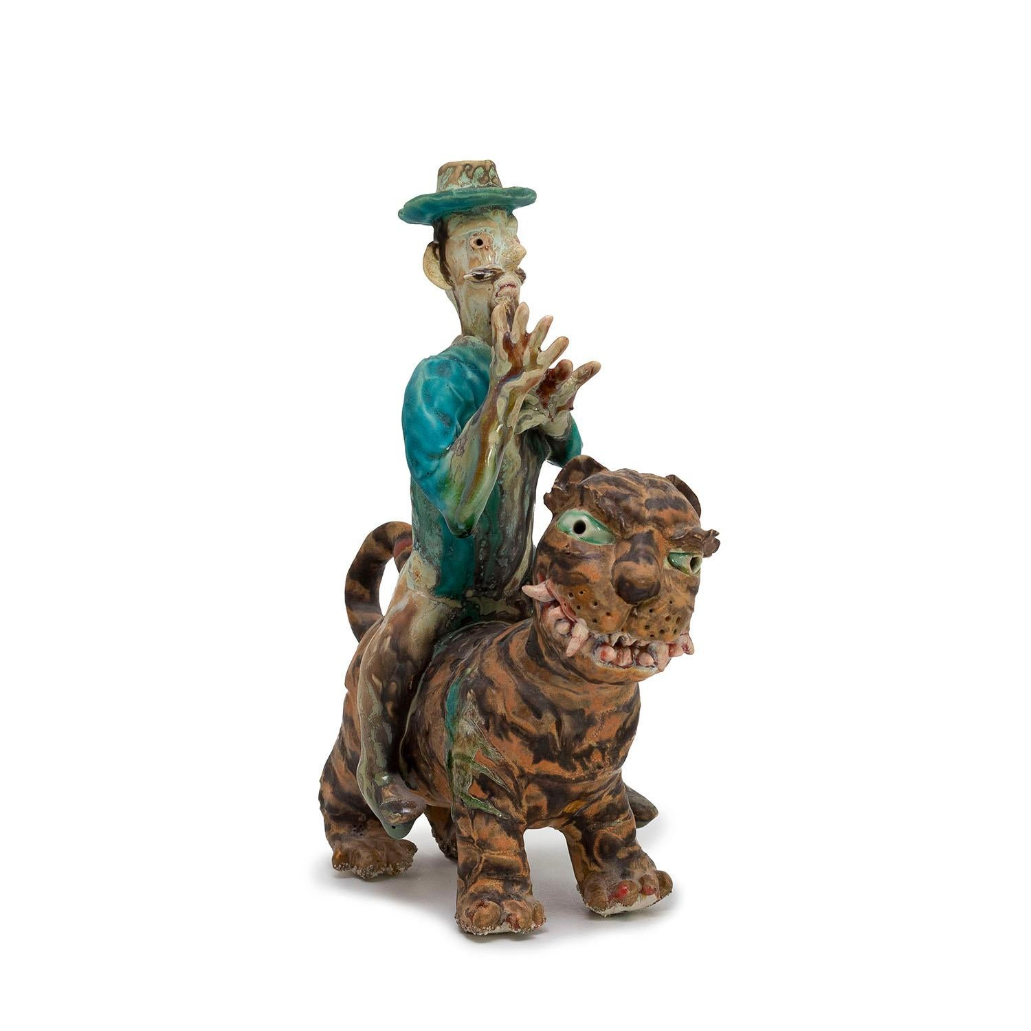 Man Riding Tiger by Sunkoo Yuh