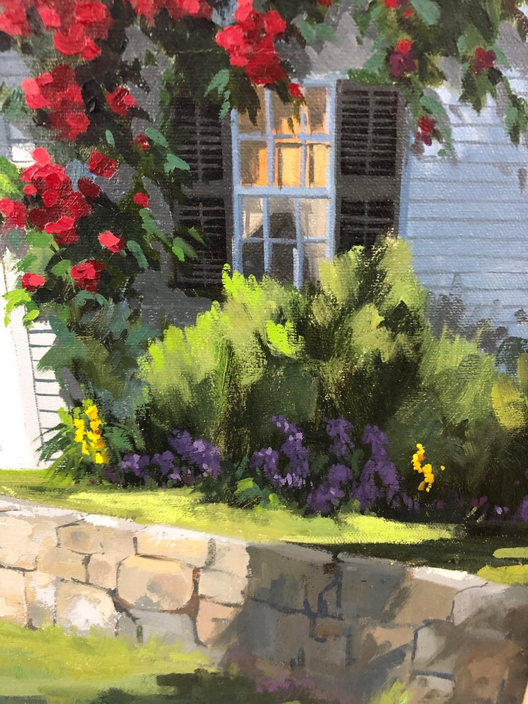 Modern Sunny Afternoon Original Painting by Line Tutwiler For Sale