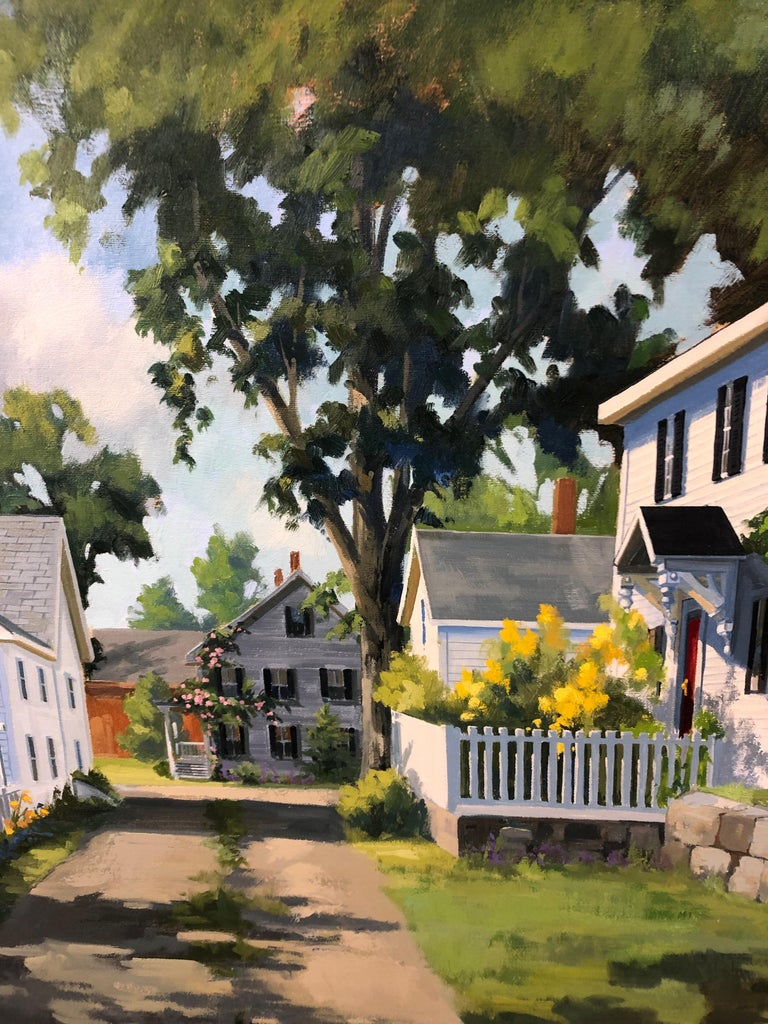 Sunny Afternoon Original Painting by Line Tutwiler In Excellent Condition For Sale In Hopewell, NJ