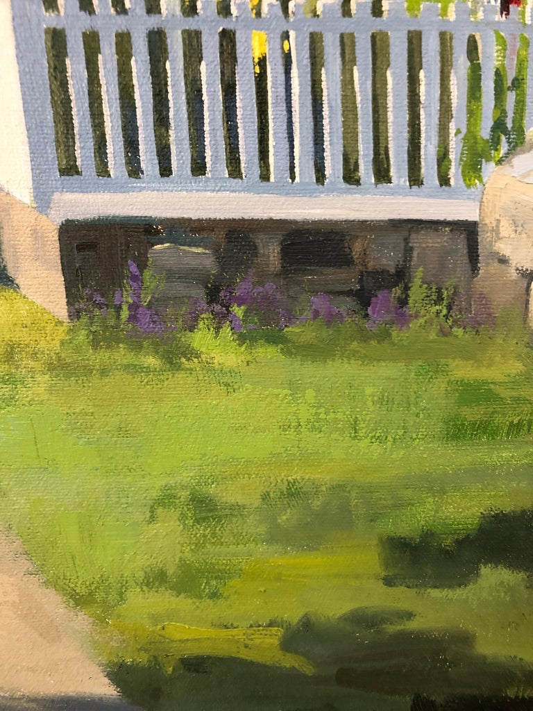 Canvas Sunny Afternoon Original Painting by Line Tutwiler For Sale