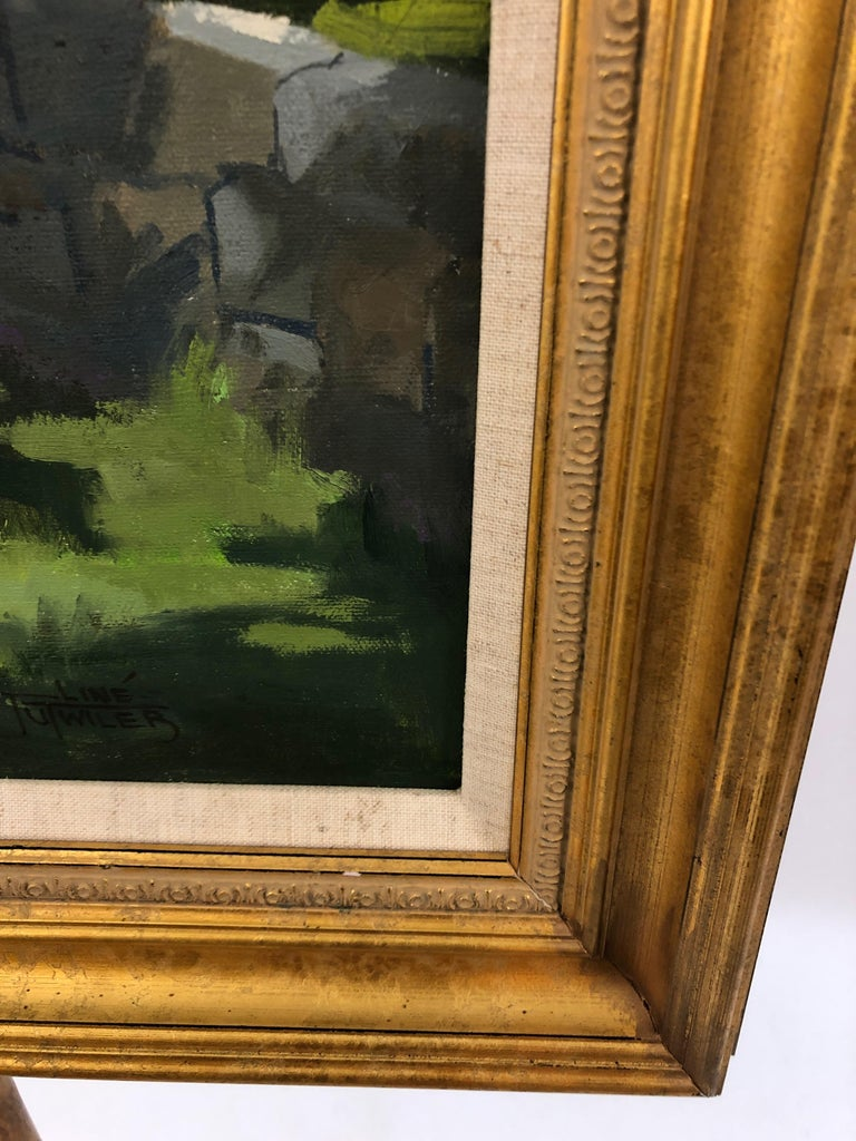 Sunny Afternoon Original Painting by Line Tutwiler For Sale 2