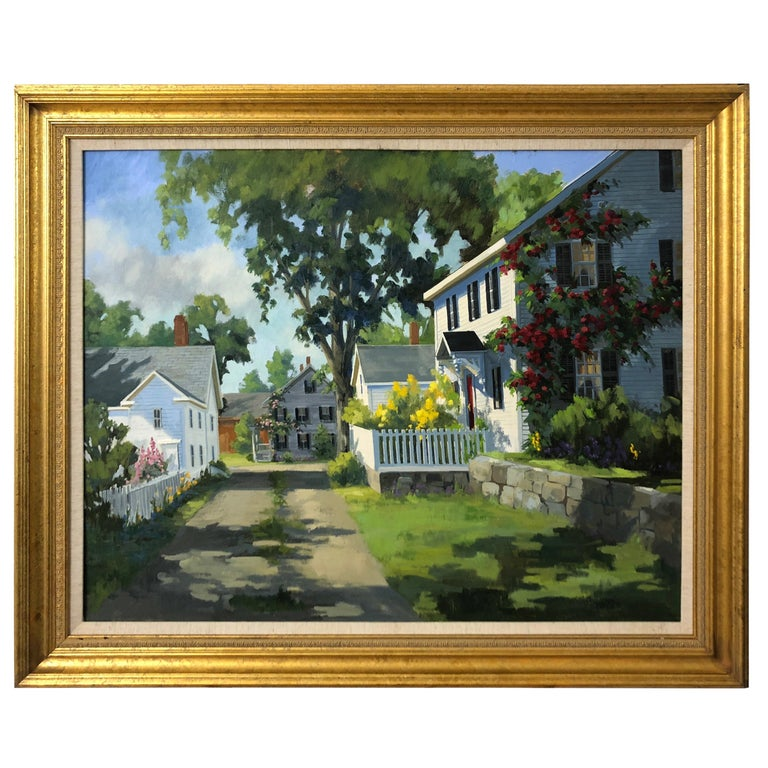 Sunny Afternoon Original Painting by Line Tutwiler For Sale