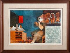 Sur La Table, Lithograph by Sunol Alvar