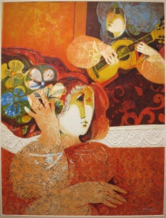 Two Women with Guitar