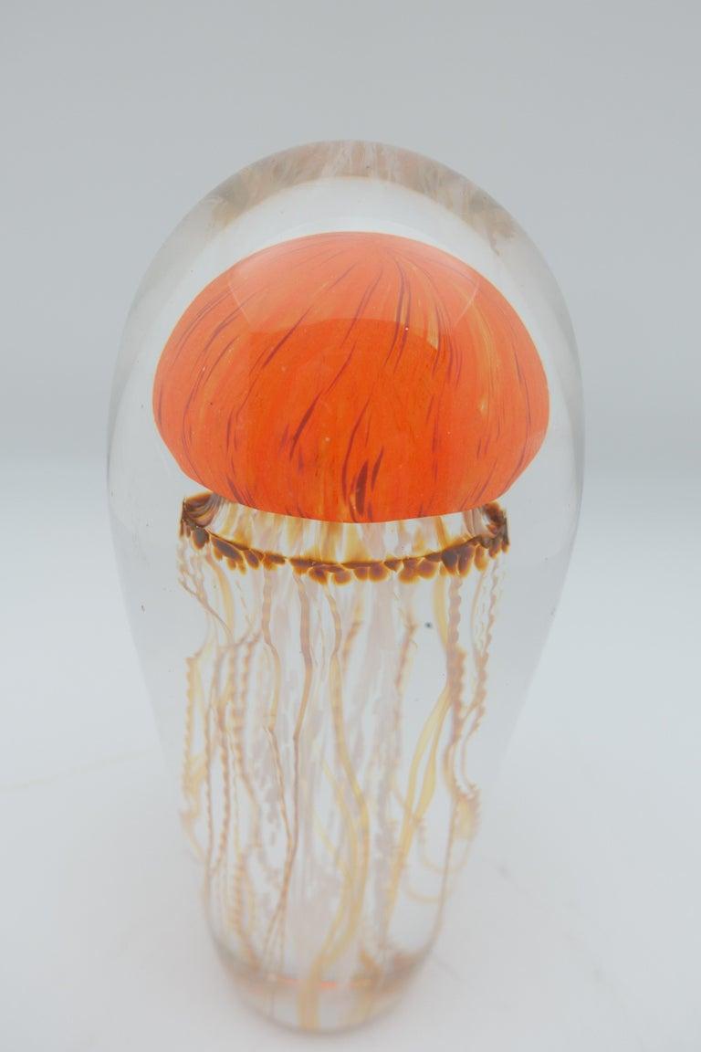 American Sunrise Glass Jellyfish Sculpture For Sale