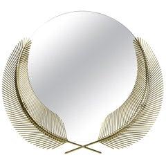 Sunset Medium Mirror in Polished Brass By Nika Zupanc
