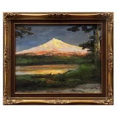 Sunset on Mt. Hood Original Oil Painting by Robert William Wood