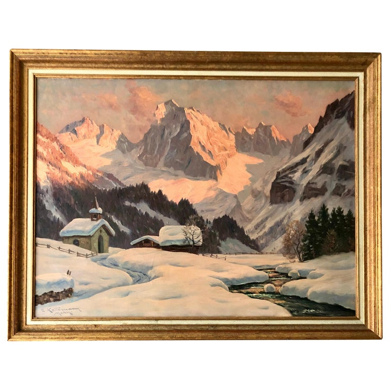 """""""Sunset on the Alps"""" by Erwin Kettemann For Sale"""