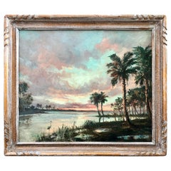 """Sunset on the Glades"" Florida Highwaymen Painting"