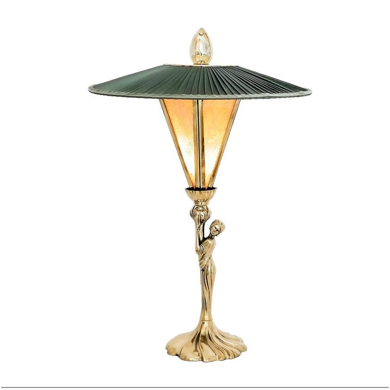 "Italian ""Sunshine"" Contemporary Table Lamp, Kyoto Handmade Paper, Silk, Brass For Sale"