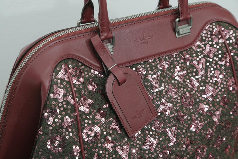 Sunshine Winter 2012 Limited Edition Express North South Burgundy Leather Sequin 5