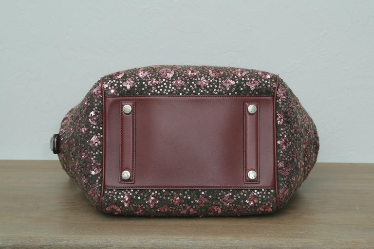 Sunshine Winter 2012 Limited Edition Express North South Burgundy Leather Sequin 6