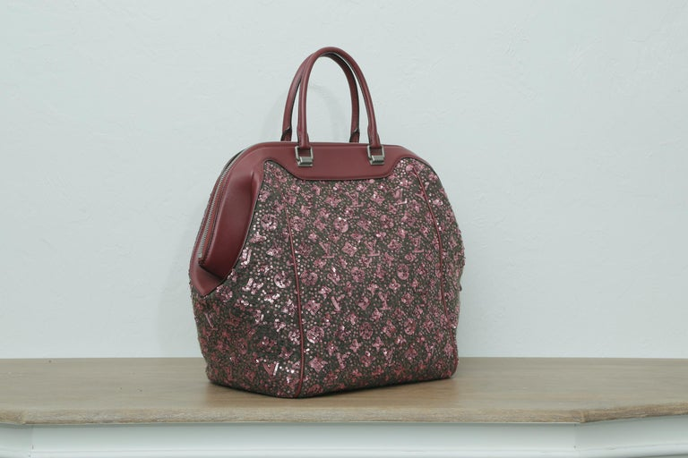 Gray Sunshine Winter 2012 Limited Edition Express North South Burgundy Leather Sequin