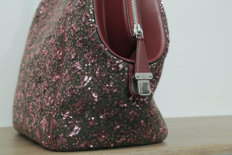 Sunshine Winter 2012 Limited Edition Express North South Burgundy Leather Sequin 2