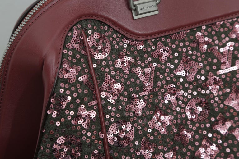 Sunshine Winter 2012 Limited Edition Express North South Burgundy Leather Sequin 3