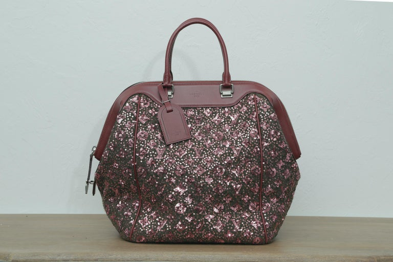 Sunshine Winter 2012 Limited Edition Express North South Burgundy Leather Sequin 4