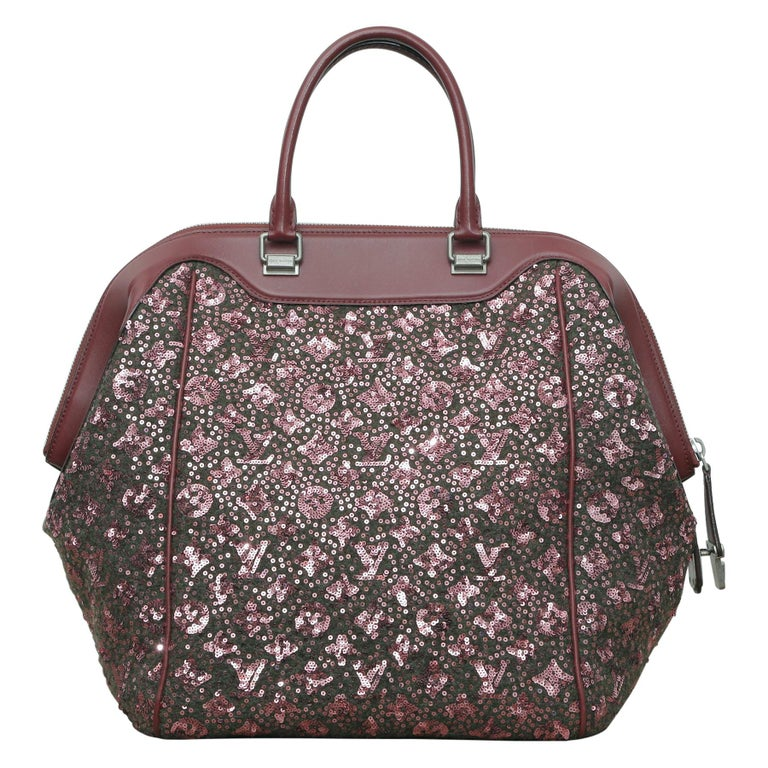 Sunshine Winter 2012 Limited Edition Express North South Burgundy Leather Sequin