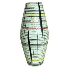 """Super Colorful Fat Lava Pottery """"307-25"""" Vase by Bay Ceramics, Germany, 1950s"""
