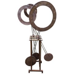 Super Cool 1960s Outdoor Kinetic Pendulum Sculpture
