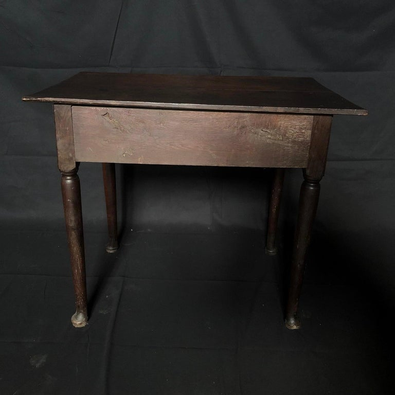 Super Early Continental Oak Side Table or Nightstand For Sale 2