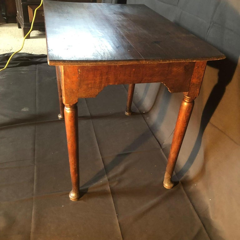 Super Early Continental Oak Side Table or Nightstand For Sale 3