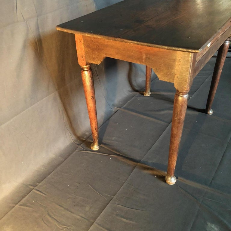 Super Early Continental Oak Side Table or Nightstand For Sale 4