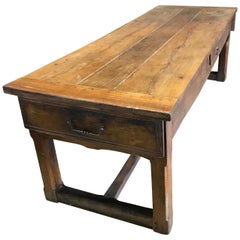 Super Early Walnut French Country Farmhouse Table